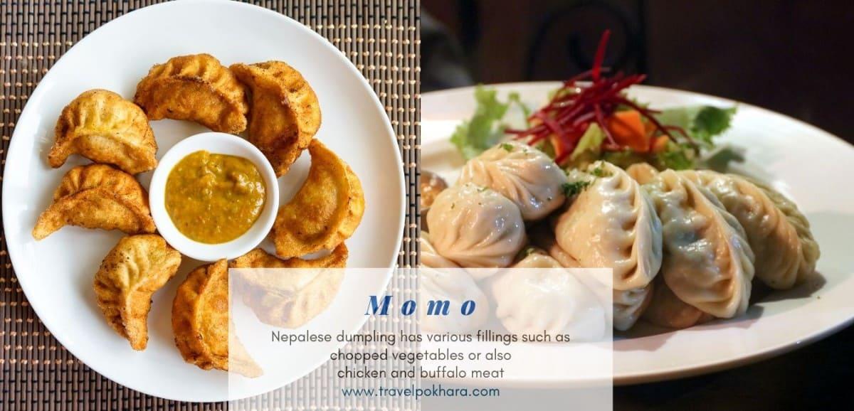 Fried Momo and Stem Momo